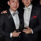 Derek Tian & Adam Sansiveri at Champagne and Carols