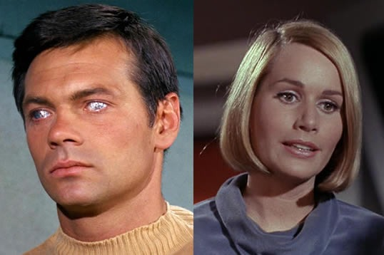 Gary Lockwood as Lt. Commander Gary Mitchel and Sally Kellerman as Dr Elizabeth Dehner