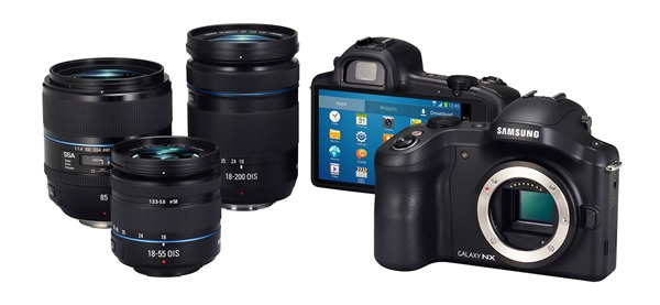 Samsung Galaxy NX Camera, Interchangeable Lens
