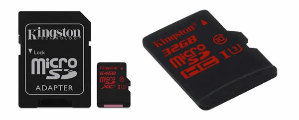 Gadget Gift Guide for Guys 15/16, Kingston 64GB UHS-I Speed Class 3 microSD