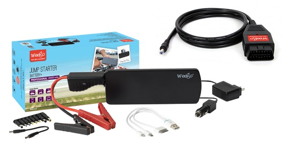 Gadget Gift Guide for Guys 15/16, Weego Jump Starter Battery+ Professional and OBDII Memory Saver