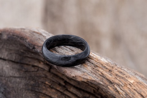 Brooklyn Hand Forged Carbon 6 Fiber Rings