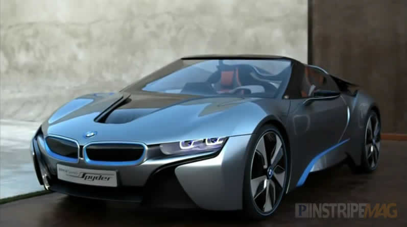 bmw i8 concept spyder hybrid high performance car pinstripe magazine. Black Bedroom Furniture Sets. Home Design Ideas